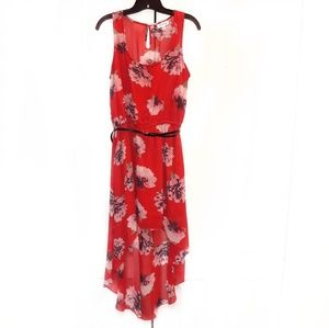 Olsenboye Floral Asymetric Dress Sz M
